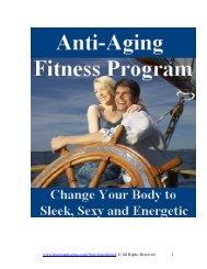 Anti-Aging Fitness Program - Trans4mind