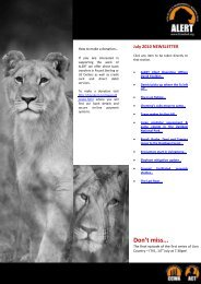 Don't miss... - African Lion & Environmental Research Trust