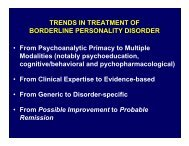 Psychodynamic Therapy of BPD: Developing Expertise - Borderline ...
