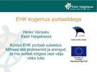 Eesti Haigekassa kogemus