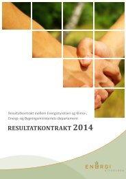 RESULTATKONTRAKT 2014 - Energistyrelsen