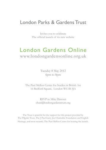 London Gardens Online - The Association of Gardens Trusts