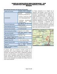 Informe Mensual mayo - Coordinación de Concesiones de Obras ...