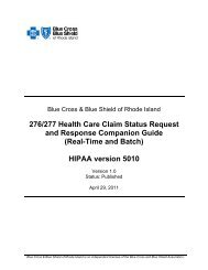 276/277 Health Care Claim Status Request and Response ...
