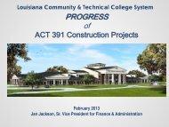 Act 391 Project Status: February 2013 - Louisiana Community and ...