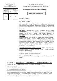 12 ACTUALISATION TABLEAU DES - Ville de Saint-Martin-de-Crau