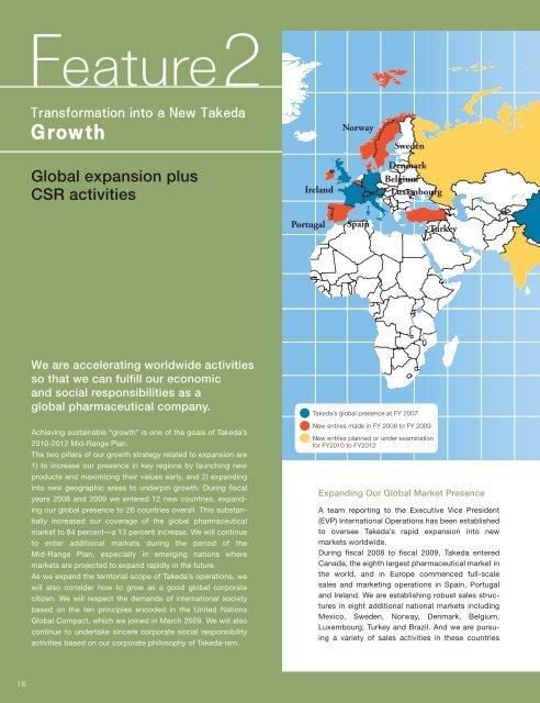 Global expansion plus CSR activities - Takeda
