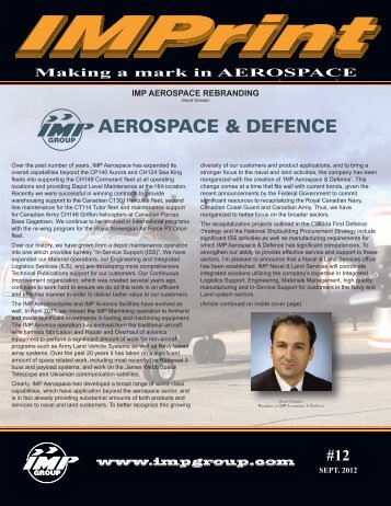 IMP AEROSPACE REBRANDING - IMP Group