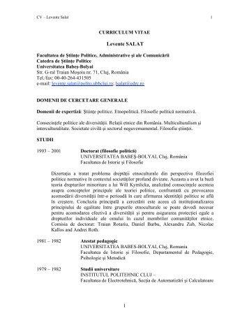 Conf. Univ. Dr. Salat Levente - prodecan