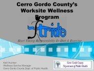 Cerro Gordo County's Worksite Wellness Program - The University ...