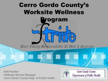 Cerro Gordo County's Worksite Wellness Program - The University ...