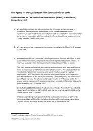 Paper 3 - Flim Agency Wales , item 3. PDF 156 KB - Senedd ...