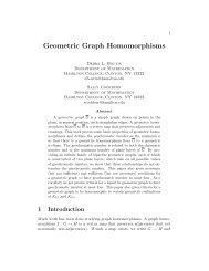 Geometric Graph Homomorphisms - Hamilton College