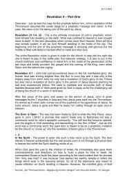 Revelation 4 – Part One - Haus des Gebets – St. Georgen