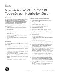 60-924-3-XT-2WTTS Simon XT Touch Screen Installation ... - Interlogix