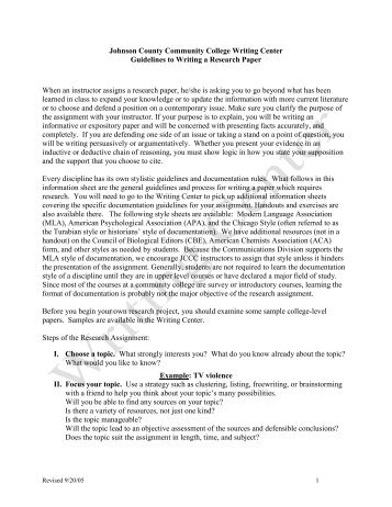1 guidelines and style sheet for writing research papers in literary