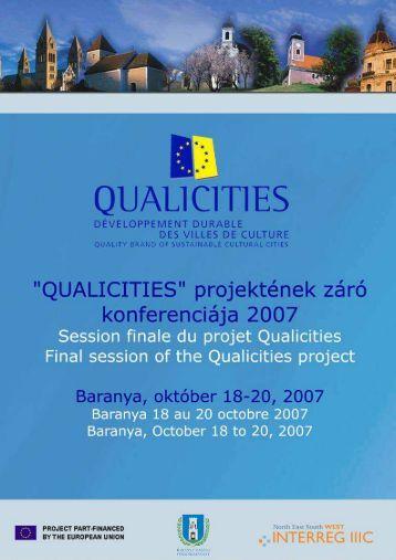 Consulter le compte rendu de la réunion finale de ... - Qualicities
