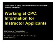 Instructor Requirements - UCLA Center for Prehospital Care