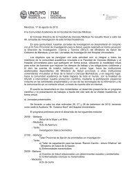 Anuncio Jornadas 2012 - Facultad de Ciencias Médicas