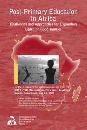 Post-Primary Education in Africa Challenges and ... - ADEA