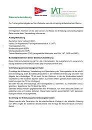 Datenschutzerklärung - Institut für Angewandte ...