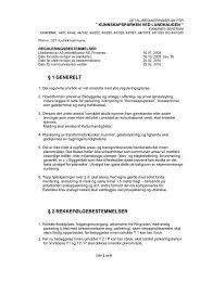 Reguleringsbestemmelser - Lenvik kommune