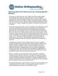 Reducing Back Pain Recurrence By Training Specific Muscles