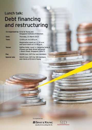 Debt financing and restructuring - Singapore Institute of Directors