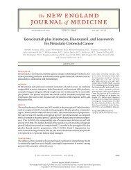 Bevacizumab plus Irinotecan, Fluorouracil, and Leucovorin for ...