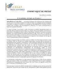 L'économie sociale en France - Cégep de Trois-Rivières