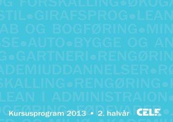 printvenlig PDF af kursuskataloget - CELFs