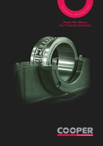 75mm to 180mm SPLIT TAPERED BEARINGS - Cooper Bearings
