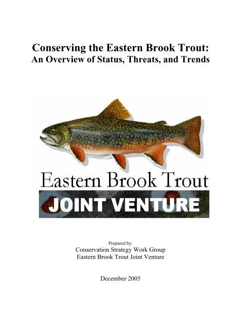 Eastern Brook Trout Conservation Strategy - State of New Jersey