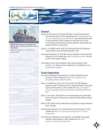 Other Resources General - NOAA, Ocean Explorer