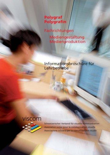 Polygraf Polygrafin Fachrichtungen Mediengestaltung ... - Viscom