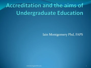 Accreditation and the aims of UG psychology education