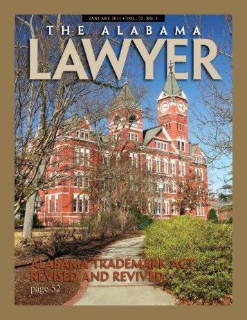 January 2011 • Vol. 72, no. 1 - Bradley Arant Boult Cummings LLP
