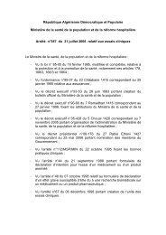 Arrêté n°387 du 31 juillet 2006 relatif aux essais cliniques - Santé-DZ
