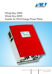 Windy Boy 5000 / 6000 - Sunny Island System Guide