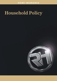 'My Home' - Policy Wording - RH Insurance