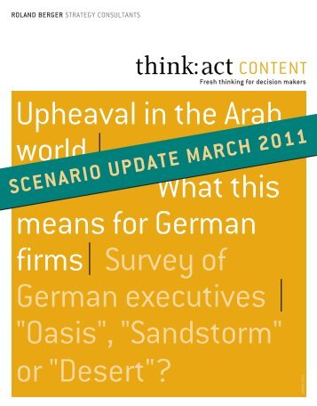 Upheaval in the Arab world - Scenario-Update