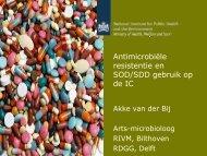 Antimicrobiële resistentie en SOD/SDD gebruik op de IC