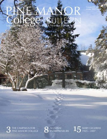 Winter 2007-2008 - Pine Manor College
