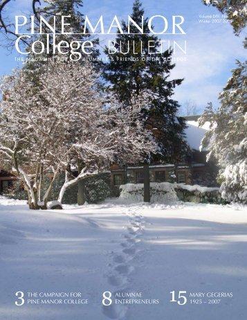 Winter 2007-2008 - Pine Manor College