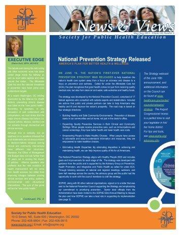 News & Views - sophe - Society for Public Health Education