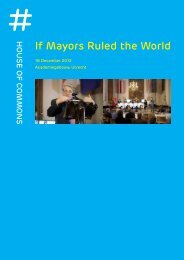 If Mayors Ruled the World - House of Commons