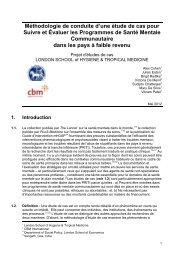 Méthodologie de conduite d'une étude de cas pour Suivre et ... - CBM