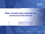 Midas: Scalable Entity Integration for Unstructured Data Sources