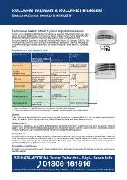 BRUNATA-METRONA Duman Detektörü – Bilgi – Servis hattı:
