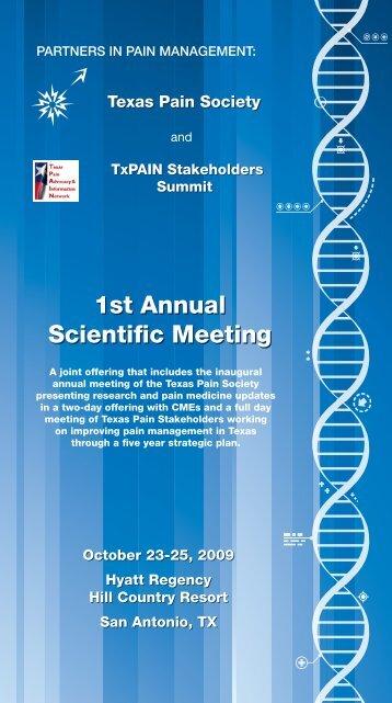 1st Annual Scientific Meeting 1st Annual Scientific Meeting